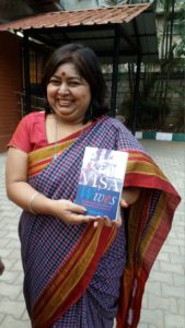 Radhika MB with her book